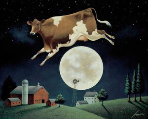 Cow Jumps Over Moon by Lowell Herrero