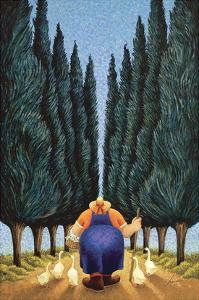 Cypress and Geese by Lowell Herrero