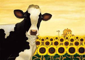 Sunflower Cow by Lowell Herrero