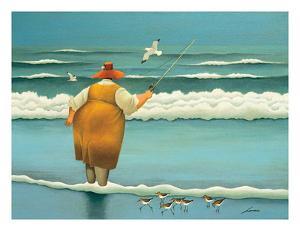 Surfside Fishing by Lowell Herrero