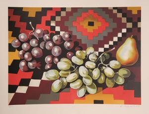 Still Life with Grapes by Lowell Nesbitt