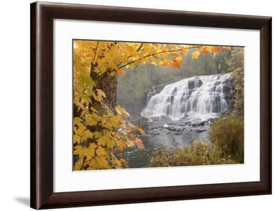 Lower Bond Falls In Autumn #2, Bruce Crossing, MI '11-Monte Nagler-Framed Photographic Print