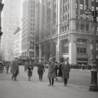 Lower Broadway, New York City, USA, 20th Century-J Dearden Holmes-Photographic Print
