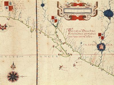 Lower California and West Coast of Mexico, Hydrographic Atlas of 1571 by Fernan Vaz Dourado--Giclee Print