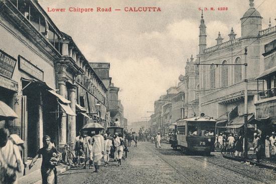 'Lower Chitpore Road - Calcutta', c1910-Unknown-Photographic Print