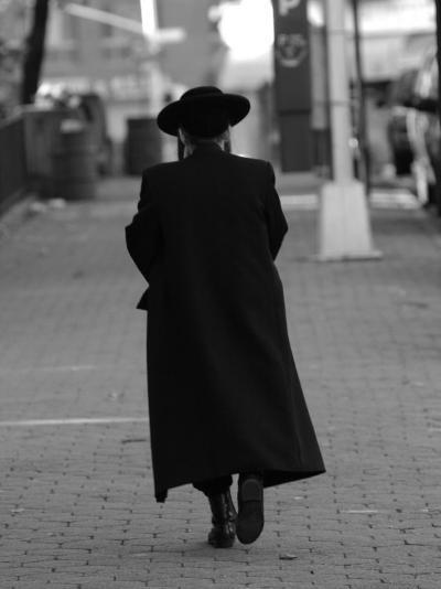Lower East Side, A Chasid Walking, New York City-Keith Levit-Photographic Print