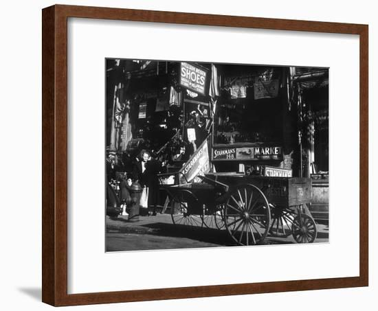 Lower East Side Jewish District in Nyc C. 1890 : Hester Street--Framed Photo