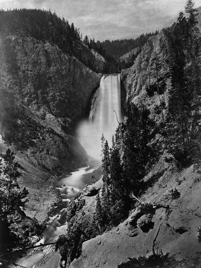 Lower Falls in the Grand Canyon of the Yellowstone--Photographic Print