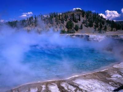 Lower Geyser Basin Yellowstone National Park, Wyoming, USA-Rob Blakers-Photographic Print
