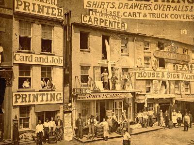 Lower Hudson Street, N.Y.C., 1865--Photographic Print