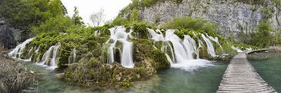 Lower Lakes Cascade in Lake Kaluderovac, Plitvice Lakes, Plitvicka Jezera, Croatia-Martin Zwick-Photographic Print