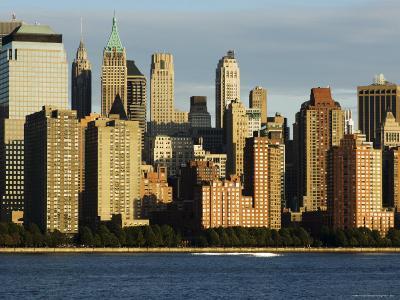 Lower Manhattan Financial District Skyline Across the Hudson River, New York City, New York, USA-Amanda Hall-Photographic Print