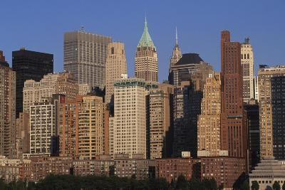 Lower Manhattan Seen from a Boat, New York, United States. Aerial View--Giclee Print