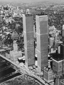 Lower Manhattan Showing the Twin Towers