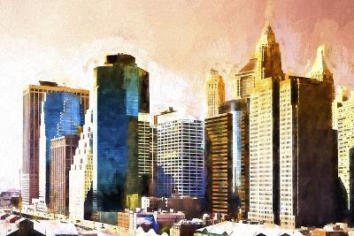 Lower Manhattan Sunset-Philippe Hugonnard-Giclee Print