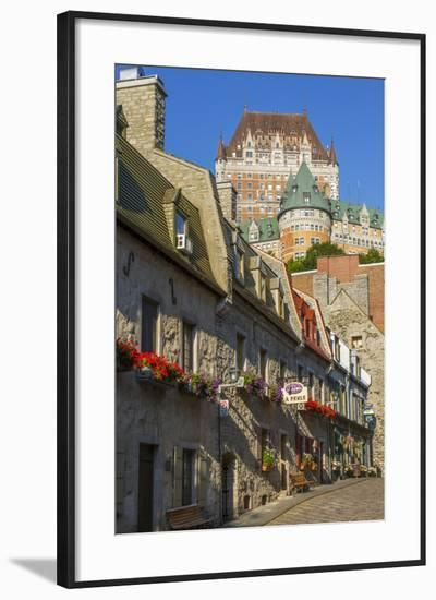 Lower old town with Chateau Frontenac, Quebec City, Quebec, Canada.-Jamie & Judy Wild-Framed Photographic Print