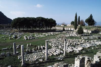 Lower or Commercial Agora, Ephesus, Turkey Ad--Giclee Print