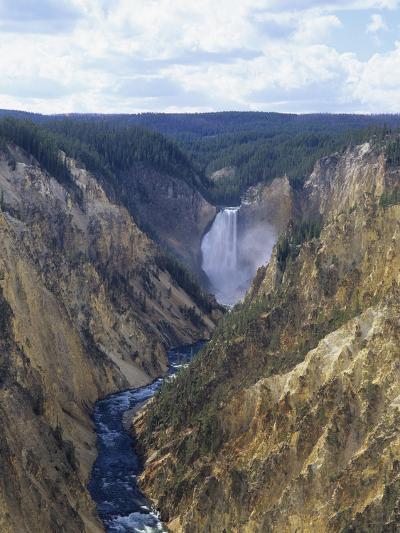 Lower Yellowstone Falls and Grand Canyon of the Yellowstone, Yellowstone National Park, Wyoming-Adam Jones-Photographic Print