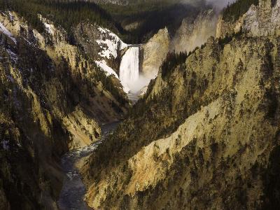 Lower Yellowstone Falls, Grand Canyon of the Yellowstone River, Yellowstone National Park, Wyoming-David Cobb-Photographic Print