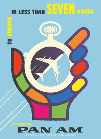 To Europe - In Less than 7 Hours - Pan American World Airways