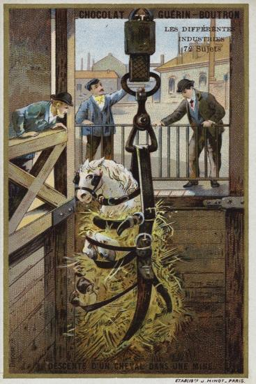 Lowering a Horse into a Mine--Giclee Print