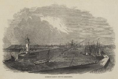 Lowestoft Harbour, with the Improvements--Giclee Print