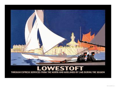 Lowestoft: Through Express Services from the North and Midlands by LMS-Hap Hadley-Art Print