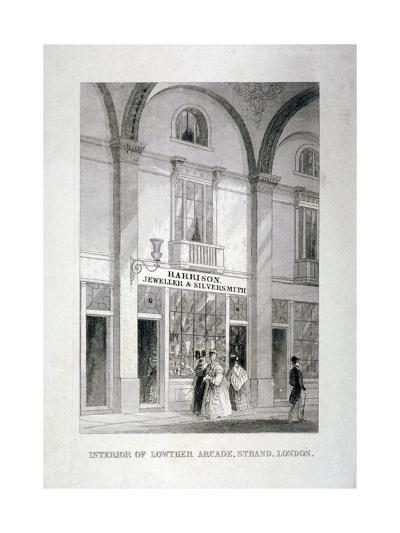 Lowther Arcade, Strand, Westminster, London, C1850--Giclee Print