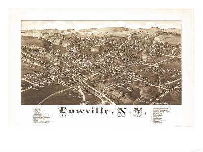 Lowville, New York - Panoramic Map-Lantern Press-Art Print