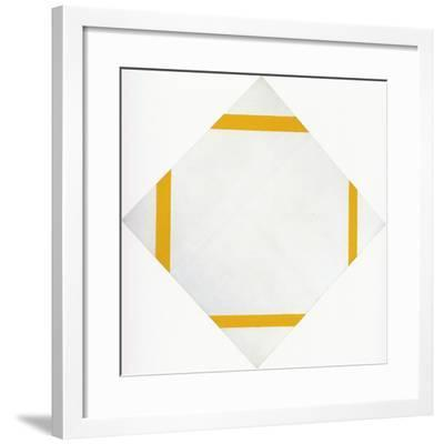 Lozange Composition with Four Yellow Lines, 1933-Piet Mondrian-Framed Art Print
