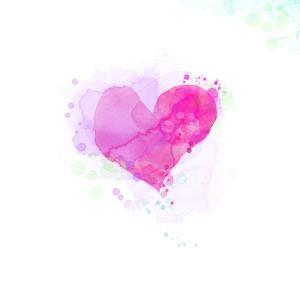 Painted Watercolor Heart by lozas