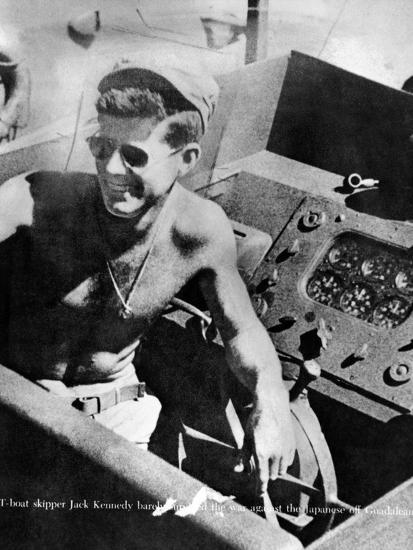 Lt John Kennedy in the Pacific During World War Ii--Photo