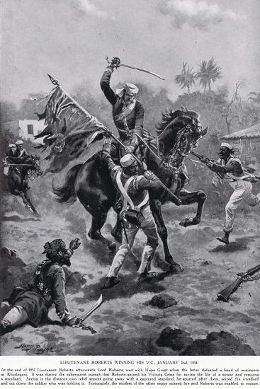 LT Roberts Winning His VC January 1858-Henry A^ Payne-Giclee Print