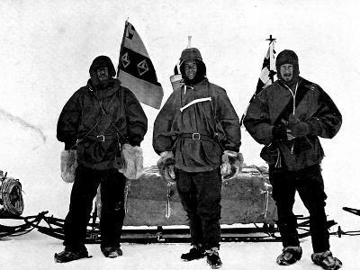 Lt. Shackleton, Captain Scott and Dr. Wilson, Antarctica--Photographic Print