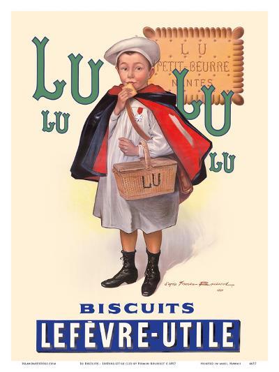 Ecolier lu biscuits - the little student (le petit ecolier) - lefèvre-utile