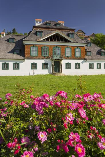 Luberegg Castle, Roses, Wachau, Lower Austria, Austria-Rainer Mirau-Photographic Print