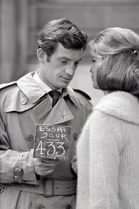Jean-Paul Belmondo and Alexandra Stewart by Luc Fournol