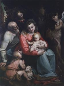 Madonna with Child and Saints by Luca Cambiaso