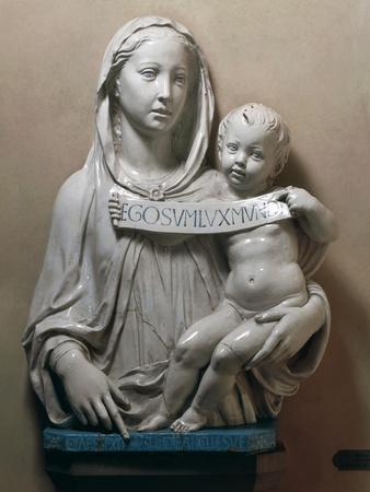 Holy Virgin with Infant Saviour Holding Scroll, 1446-1449