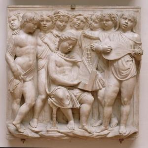 Musical Angels, Relief from the Cantoria, C.1432-38 by Luca Della Robbia
