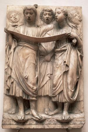 Singing Angels, Relief from the Cantoria by Luca Della Robbia (1400-82), C.1435