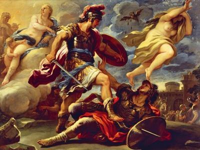 Aeneas Defeats Turnus