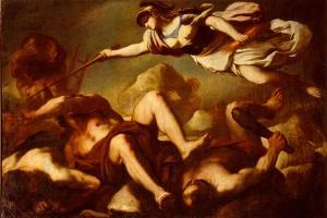 Minerva in the Fight Against Gigantes by Luca Giordano