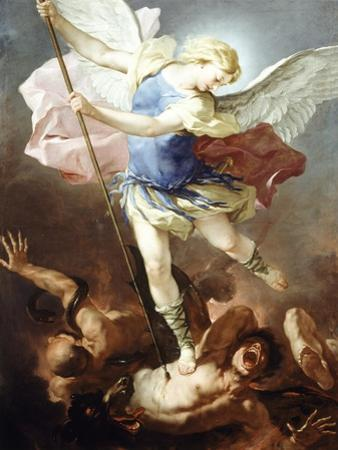 St Michael Defeats Demon by Luca Giordano