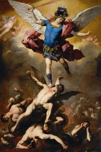 The Fall of the Rebel Angels, C. 1660 by Luca Giordano
