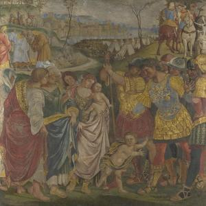 Coriolanus Persuaded by His Family to Spare Rome (Frescoes from Palazzo Del Magnifico, Sien), 1509 by Luca Signorelli