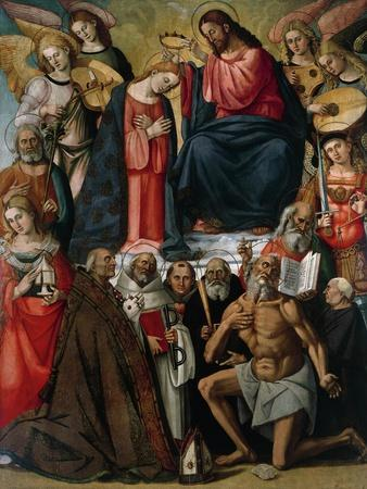 Coronation of Virgin with Angels and Saints