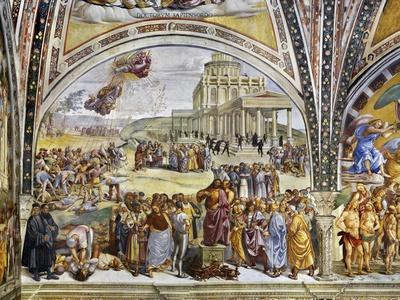 Sermon and Deeds of Antichrist, from Last Judgment Fresco Cycle, 1499-1504