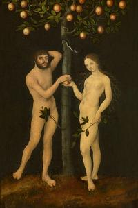 Adam and Eve by Lucas Cranach the Elder