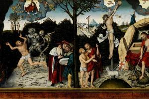 Allegory of Law and Grace, after 1529 by Lucas Cranach the Elder